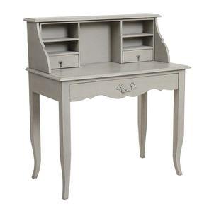 Secrétaire gris 3 tiroirs en pin - Visuel n°5