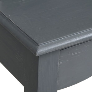 Secrétaire gris souris 3 tiroirs en pin - Visuel n°9