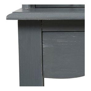 Secrétaire gris souris 3 tiroirs en pin - Visuel n°10