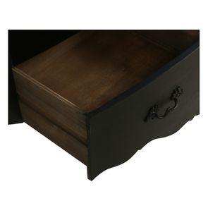 Commode noire 4 tiroirs en épicéa - Visuel n°11