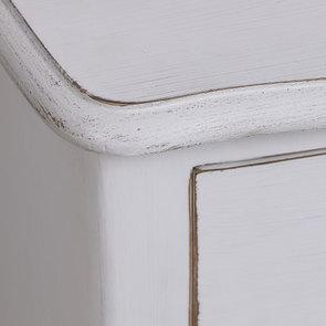 Petite commode blanc patiné 3 tiroirs en épicéa - Visuel n°8