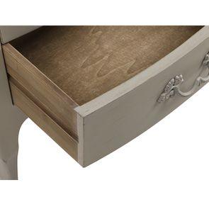 Petite commode gris patiné 3 tiroirs en épicéa - Visuel n°11