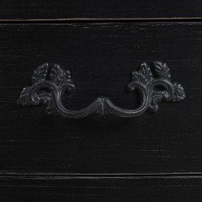 Petite commode noire 3 tiroirs en épicéa - Visuel n°8