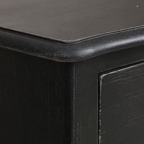 Petite commode noire 3 tiroirs en épicéa - Visuel n°9