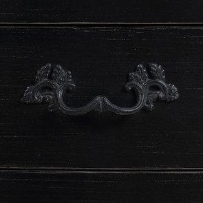 Petite commode noire 3 tiroirs en épicéa - Visuel n°11