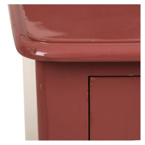 Commode 4 tiroirs vieux rose glossy