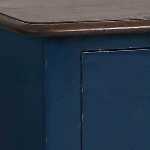 Commode 4 tiroirs en épicéa bleu saphir glossy - Visuel n°5
