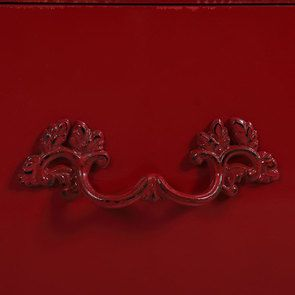 Commode 4 tiroirs en épicéa rouge groseille - Visuel n°12