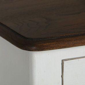 Commode 4 tiroirs en épicéa blanc patiné - Visuel n°10