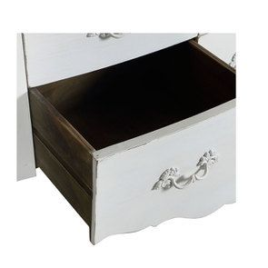 Commode 4 tiroirs en épicéa blanc patiné - Visuel n°11