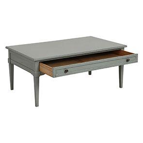 Table basse rectangulaire vert sauge - Visuel n°3