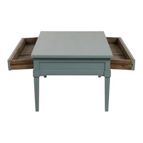 Table basse rectangulaire nuage de bleu patiné - Visuel n°2
