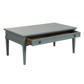Table basse rectangulaire nuage de bleu patiné - Visuel n°3