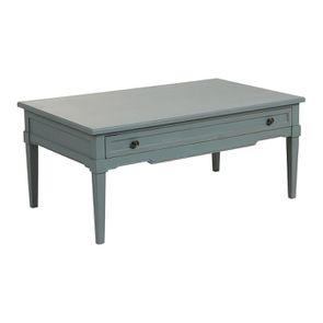 Table basse rectangulaire nuage de bleu patiné - Visuel n°4