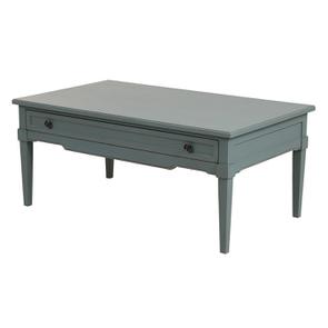Table basse rectangulaire nuage de bleu patiné - Visuel n°6