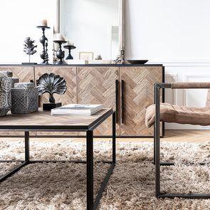 Bas de buffet industriel en bois et acier - Haussmann - Visuel n°5