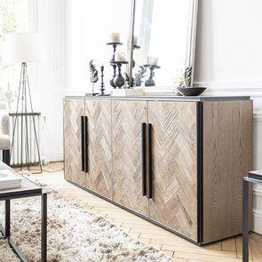 Bas de buffet industriel en bois et acier - Haussmann - Visuel n°8