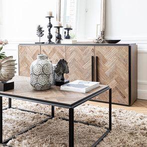 Bas de buffet industriel en bois et acier - Haussmann - Visuel n°10