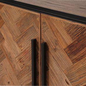 Bas de buffet industriel en bois et acier - Haussmann - Visuel n°15