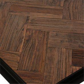 Bout de canapé industriel en bois et acier - Haussmann