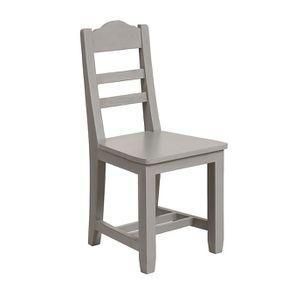 Chaise en bois gris perle - Brocante - Visuel n°2