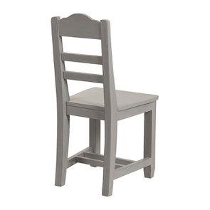 Chaise en bois gris perle - Brocante - Visuel n°3