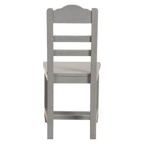 Chaise en bois gris perle - Brocante - Visuel n°4