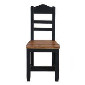 Chaise contemporaine en pin massif - Brocante