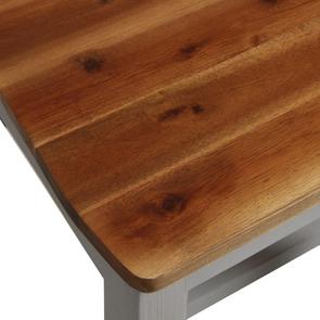 Chaise en bois massif gris perle - Brocante