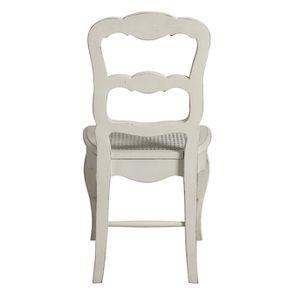 Chaise cannée en pin massif blanc - Château - Visuel n°5