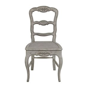 Chaise cannée en pin massif gris - Château - Visuel n°1