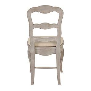 Chaise en tissu blanc cassé et pin massif - Château - Visuel n°3