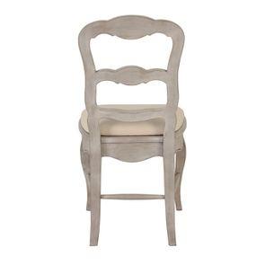 Chaise en tissu blanc cassé et pin massif - Château - Visuel n°4