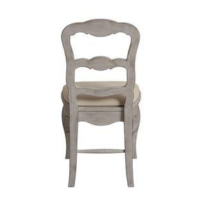 Chaise en tissu et pin massif gris argenté - Château - Visuel n°3