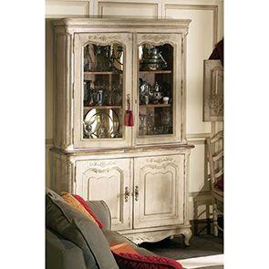 Buffet vaisselier 2 portes vitrées en pin - Château - Visuel n°3