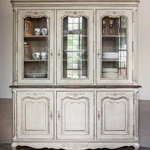 Buffet vaisselier 3 portes vitrées en pin - Château - Visuel n°3