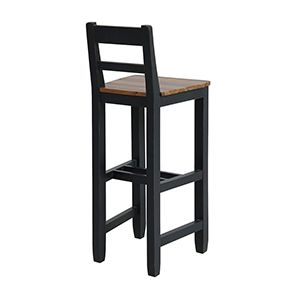 Chaise haute en pin massif noir - Brocante - Visuel n°3