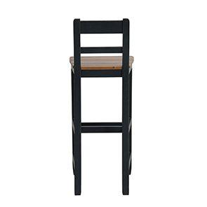 Chaise haute en pin massif noir - Brocante - Visuel n°4