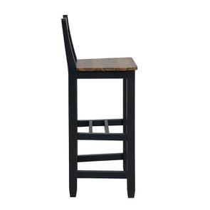 Chaise haute en pin massif noir - Brocante - Visuel n°5