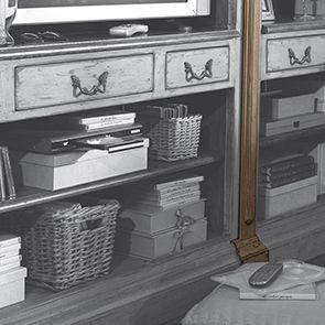 Set de jonction pour bibliothèques modulables en pin - Château