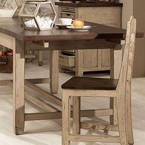 Table extensible en pin 8 à 10 personnes - Brocante - Visuel n°3