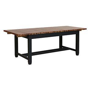 Table extensible noire en pin 8 à 10 personnes - Brocante - Visuel n°4