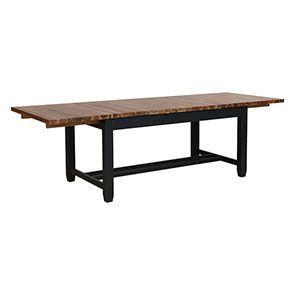 Table extensible noire en pin 8 à 10 personnes - Brocante - Visuel n°6