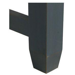 Table extensible grise en pin bleu grisé 8 à 10 personnes - Brocante