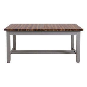 Table extensible grise en pin 8 à 10 personnes - Brocante