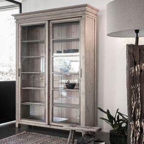 Bibliothèque 2 portes vitrées en bois massif - Initiale - Visuel n°2
