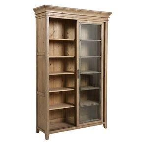 Bibliothèque 2 portes vitrées en bois massif - Initiale - Visuel n°5