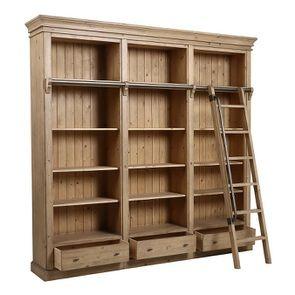 Bibliothèque ouverte en bois massif - Initiale - Visuel n°10