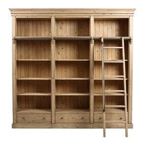 Bibliothèque ouverte en bois massif - Initiale