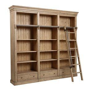 Bibliothèque ouverte en bois massif - Initiale - Visuel n°11